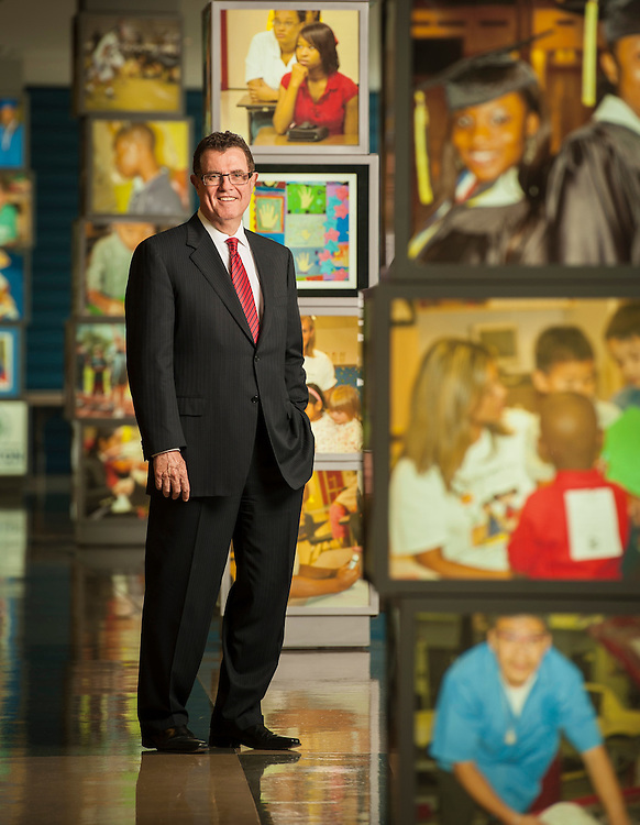Houston Independent School District Superintendent Dr. Terry Grier poses for a photograph at the HISD administration building, December 6, 2012, in Houston.