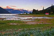 Alaska, Haines, Lutak Inlet, Landscape, Sunrise