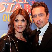 NLD/Amsterdam/20111010 - Premiere All Stars 2, Kim van Kooten en partner Jakob Derwig