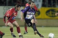 Fotball<br /> Frankrike 2003/04<br /> 2. divisjon<br /> Istres v Valence<br /> 16. mai 2004<br /> Foto: Digitalsport<br /> NORWAY ONLY<br /> <br /> XAVIER GRAVELAINE (IST) / ANTHONY BARTHOLOME (VAL)
