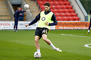 Wimbledon midfielder Anthony Wordsworth (40) warming up  during the The FA Cup 3rd round match between Fleetwood Town and AFC Wimbledon at the Highbury Stadium, Fleetwood, England on 5 January 2019.