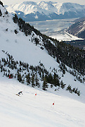 Woman's Super G, 2007 U.S. Alpine Championships at Alyeska, Resort, Alaska.