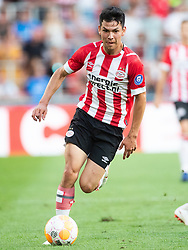 Hirving Lozano of PSV during the Pre-season Friendly match between PSV Eindhoven and Valencia CF at the Phillips stadium on July 28, 2018 in Eindhoven, The Netherlands