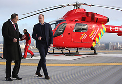 The Duke of Cambridge visits London's Air Ambulance to recognise the work that the organisation's first responders carry out delivering life-saving treatment across London, at the Royal London Hospital, London, UK, on the 9th January 2019. Picture by Ian Vogler/WPA-Pool. 09 Jan 2019 Pictured: Prince William, Duke of Cambridge. Photo credit: MEGA TheMegaAgency.com +1 888 505 6342