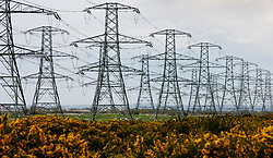 File photo dated 26/03/08 of electricity pylons, as National Grid has played down concerns that the shift away from petrol and diesel cars to electric vehicles could lead to a huge jump in UK power demand.