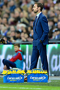 England Manager Gareth Southgate during the FIFA World Cup Qualifier match between England and Slovenia at Wembley Stadium, London, England on 5 October 2017. Photo by Martin Cole.