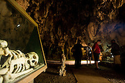 Archaeological museum in a natural cave in Baracoa, Cuba.
