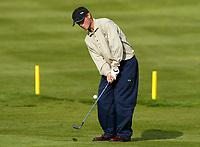 Photograph: Scott Heavey<br />Volvo PGA Championship At Wentworth Club. 23/05/2003.<br />Henrik Bjørnstad chips onto the green at the 12th.