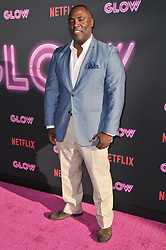 """Bashir Salahuddin arrives at Netflix's """"Glow"""" Los Angeles Premiere held at the Arclight Cinerama Dome in Los Angeles, CA on Wednesday, June 21, 2017.  (Photo By Sthanlee B. Mirador) *** Please Use Credit from Credit Field ***"""