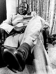 May 12, 1971; Kampala, Uganda; The former dictatorial leader of Uganda from 1971-1979, IDI AMIN DADA, has been called 'One of the most batshit loco leaders ever to seize control of a chaotic African nation.' Amin rounded up the military leaders that did not support his coup, murdered them, decapitated them and sat their disembodied heads around the presidential dining table, scolding them for not supporting him, and taking bites of their flesh.' (Credit Image: © Keystone Press Agency/Keystone USA via ZUMAPRESS.com)