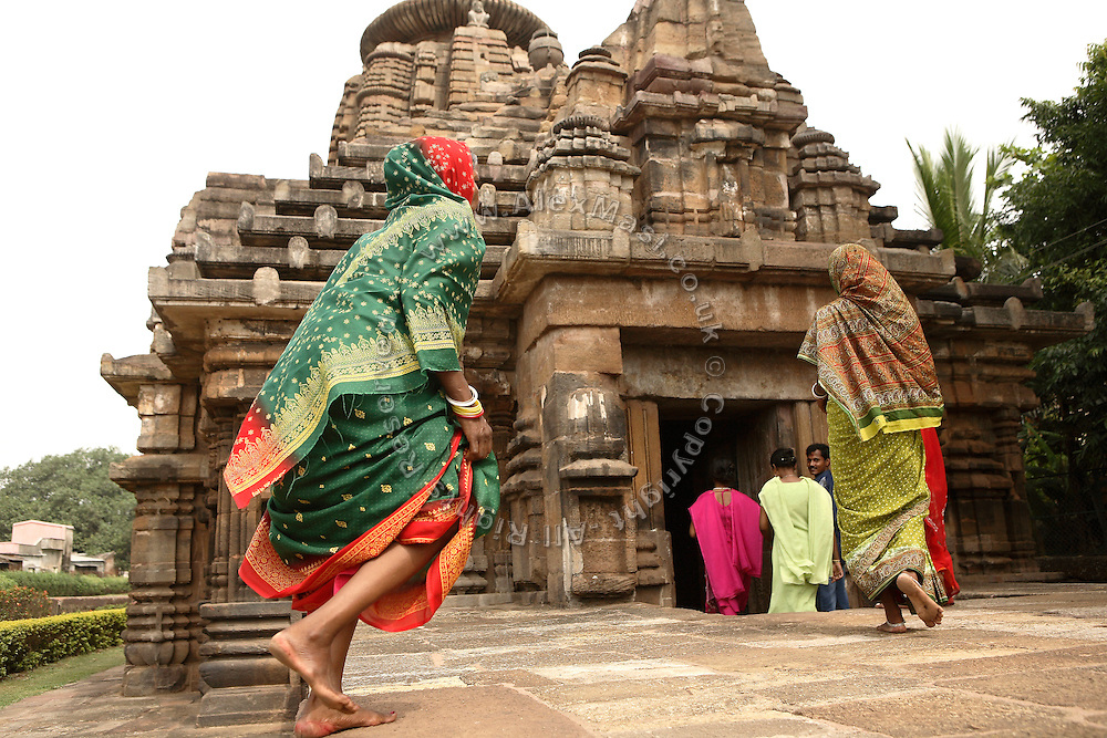 Devotees are entering the temple of Mukteswar in Bhubaneswar, the capital of Orissa State, India, on Friday, May 16, 2008. Bhubaneswar is also known as the City of Temples as they are widely present in the city. **Italy and China Out**
