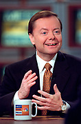 Gary Bauer, President of the Family Research Council, discusses the ongoing Senate impeachment trial of President Bill Clinton during NBC's Meet the Press television news talk show January 31, 1999 in Washington, D.C.