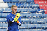 Connor Ripley of Oldham Athletic warms up before  during the EFL Cup match between Oldham Athletic and Wigan Athletic at Boundary Park, Oldham, England on 9 August 2016. Photo by Simon Brady.
