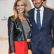 NLD/Amsterdam/20150302 - Uitreiking TV Beelden 2015, Chantal Janzen en partner Marco Geerartz