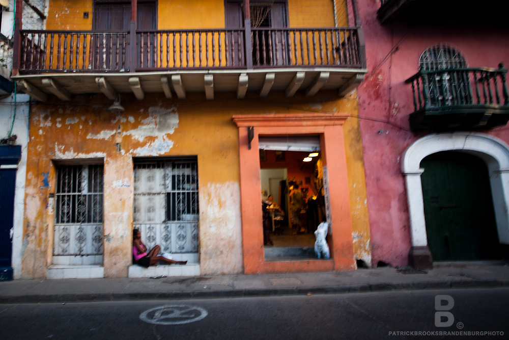 Parts of the old town in Cartegena still have problems with sex trade and prostitution.