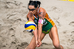 Agatha Bednarczuk BRA in action during the last day of the beach volleyball event King of the Court at Jaarbeursplein on September 12, 2020 in Utrecht.