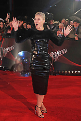 Presenter Emma Willis arrives for The Voice UK blind auditions in Salford, Manchester.