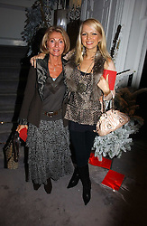 Left to right, VICKI SANDLING and her daughter HANNAH SANDLING at Garrard's Winter Wonderland party held at their store 24 Albermarle Street, London W1 on 30th November 2006.<br /><br /><br />NON EXCLUSIVE - WORLD RIGHTS