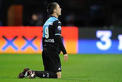 03-04-2010 VOETBAL: AZ - FC UTRECHT: ALKMAAR<br /> FC utrecht verliest met 2-0 van AZ / Ricky van Wolfswinkel wilt een strafschop<br /> ©2009-WWW.FOTOHOOGENDOORN.NL