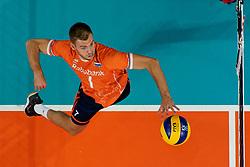 21-09-2019 NED: EC Volleyball 2019 Netherlands - Germany, Apeldoorn<br /> 1/8 final EC Volleyball / Gijs Jorna #7 of Netherlands