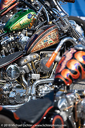 Counts Kustoms had some beautiful bikes on display courtesy of Haul Bikes at House of Harley-Davidson, one of seven local dealerships that had street parties, bands and 2019 model test rides during the Harley-Davidson 115th Anniversary Celebration event. Milwaukee, WI. USA. Thursday August 30, 2018. Photography ©2018 Michael Lichter.