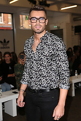 Josh Cuthbert during 'Streets of EQT', a street style presentation to celebrate Hailey Baldwin's new Adidas EQT campaign during London Fashion Week SS18 held at The Old Truman Brewery, London. Picture Date: Friday 15 September. Photo credit should read: Isabel Infantes/PA Wire