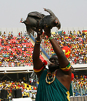 Photo: Steve Bond/Richard Lane Photography.<br />Ghana v Guinea. Africa Cup of Nations. 20/01/2008. Its not looking good for the guinea fowl