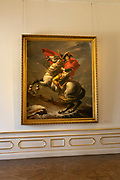 "A photo of ""Napoleon Crossing the Alps"" painting by Jacques Louis David at Belvedere Palace, Vienna, Austria"