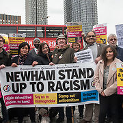 Rokhsana Fiaz and Lyn Brown join in solidarity with the Muslim community of the outrageous 'Punish a Muslim Day' letter recently sent to homes across the country is yet another example of anti-Muslim hate crime which has doubled over the last year on the 3rd March 2018 at Stratford station, London, UK.