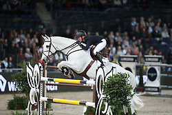 Michaels-Beerbaum Meredith, (GER), Fibonacci 17<br /> Grand Prix of Stuttgart <br /> Longines FEI World Cup<br /> Stuttgart - German Masters 2015<br /> © Hippo Foto - Stefan Lafrentz