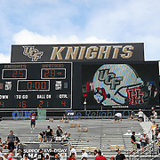 The final scoreboard after an NCAA football game between the South Carolina Gamecocks and the Central Florida Knights at Bright House Networks Stadium on Saturday, September 28, 2013 in Orlando, Florida. (AP Photo/Alex Menendez)
