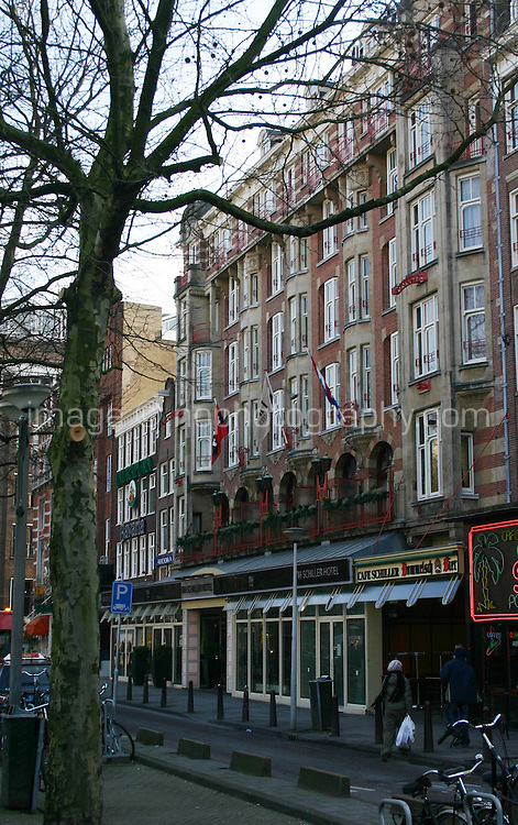 View of NH Schiller hotel in Amsterdam, the Netherlands<br />