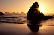 Sunset at Bandon Beach, Oregon