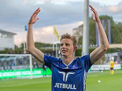 Frederik Winther (Lyngby Boldklub) efter kampen i 3F Superligaen mellem Lyngby Boldklub og Hobro IK den 20. juli 2020 på Lyngby Stadion (Foto: Claus Birch).