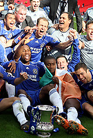 Photo: Paul Thomas.<br /> Chelsea v Manchester United. The FA Cup Final. 19/05/2007.<br /> <br /> Winning goal scorer Didier Drogba and Chelsea celebrate.