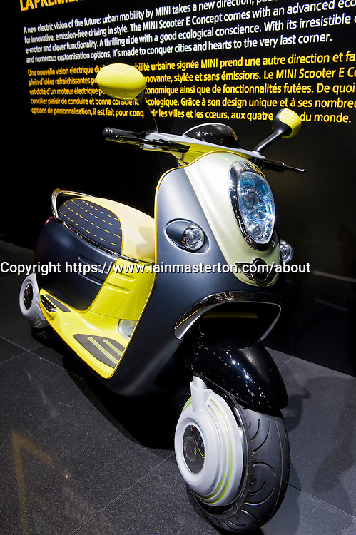 New Mini electric scooter on display at Paris Motor Show 2010