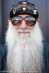 Gordon Sinner of Torrington, WY on Main Street during the annual Sturgis Black Hills Motorcycle Rally. SD, USA. August 9, 2014.  Photography ©2014 Michael Lichter.