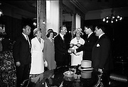 4/8/1964<br /> 8/4/1964<br /> 8 August 1964<br /> <br /> Lord Mayor of Dublin presenting Mr. Gilley with a letter of Goodwill<br /> <br /> (L_R)Mr. David Dard, Mrs. Walter Gilley, John McCann Lord Mayor of Dublin, Mr Walter Gilley, and Mr Ian Cairnduff.