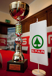 Trophy of Mini Spar Cup during press conference of KZS before final basketball tournament of Spar Cup 2012, on February 14, 2012, in Austria Trend Hotel, Ljubljana, Slovenia. (Photo by Grega Valancic / Sportida.com)