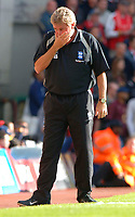 Photo: Henry Browne.<br /> Arsenal v Birmingham City. The Barclays Premiership.<br /> 02/10/2005.<br /> It all goes wrong for Steve Bruce at the end of the game.