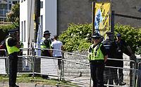 police in Carbis Bay during of G7 Summit in Cornwall photo by Krisztian Kobold Elek