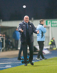 Falkirk's manager Peter Houston. Falkirk 3 v 1 St Mirren, Scottish Championship game played 3/12/2016 at The Falkirk Stadium.