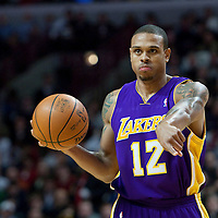 15 December 2009: Los Angeles Lakers guard Shannon Brown brings the ball upcourt during the Los Angeles Lakers 96-87 victory over the Chicago Bulls at the United Center, in Chicago, Illinois, USA.