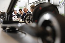 June 19, 2017 - Brussels, BELGIUM - Jean-Francois Gaillet, BIVV-IBSR Belgian institute for road safety Innovation Center Director, AG Insurance CEO Hans De Cuyper, Minister of Mobility Francois Bellot and Lode Deschamps, BIVV-IBSR Belgian institute for road safety Product Development Liability & Accidents Director pictured during a press conference of BIVV-IBSR Belgian institute for road safety and AG Insurance on the benefits and risks of new modes of transport, Monday 19 June 2017, in Brussels. BELGA PHOTO THIERRY ROGE (Credit Image: © Thierry Roge/Belga via ZUMA Press)