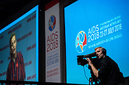 22nd International AIDS Conference (AIDS 2018) Amsterdam, Netherlands.  <br /> Copyright: Steve Forrest/Workers' Photos/ IAS<br /> <br /> Photo shows: The Opening Plenary Session.