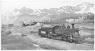"""RGS #461 leaving Lizard Head to run light southbound ahead of #455 to Rico at 5 mph.<br /> RGS  Lizard Head, CO  Taken by Kindig, Richard H. - 6/5/1951<br /> In book """"Rio Grande Southern, The: An Ultimate Pictorial Study"""" page 143<br /> Also in """"RGS Story Vol. IV"""", p. 304."""