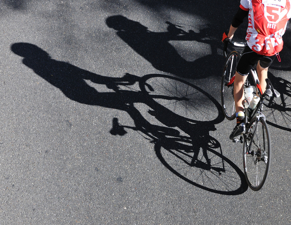 Rider and shadows, El Tour de Tucson, November 20, 2010. Bike-tography by Martha Retallick.