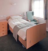 bedroom in nursing home for old people in kent
