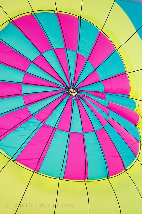Afternoon sun glows through the top of 'Sinbad,' Crown of Maine Balloon Fair, Presque Isle, Maine.