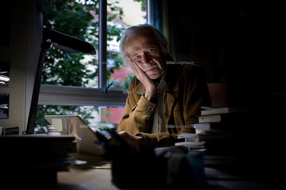 Nils Christie, Norwegian born 24.02.1928 in Oslo. Christie is a norvegian professor in criminology. He still lectures at the university of Oslo at the faculty of criminology and law. 11.09.08. Oslo, Norway. Photo: Christopher Olssøn.
